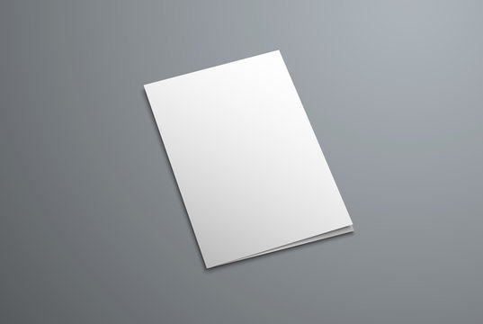 Vector mockup cover for a closed bifold brochure.