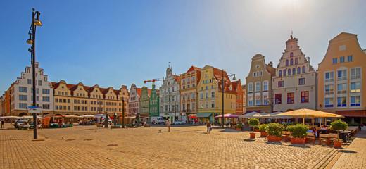 Rostock Markt Altstadt Panorama