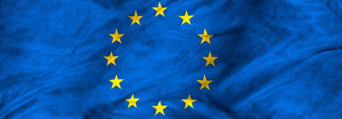 image of European Union flag closeup