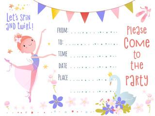 Invitation design. Birthday party.