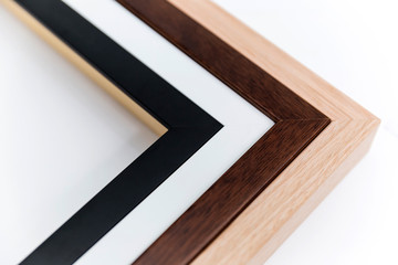 Wooden picture frame options to select from.