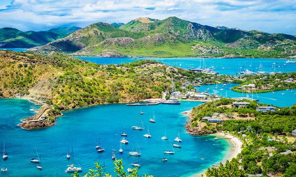 English harbor in Antigua and Barbuda, Caribbean