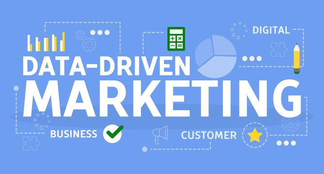 Data driven marketing concept. Idea of search optimization