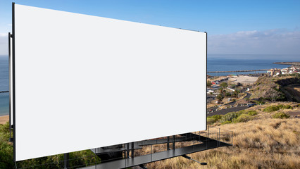 Blank billboard ready to use for mockup advertisement.