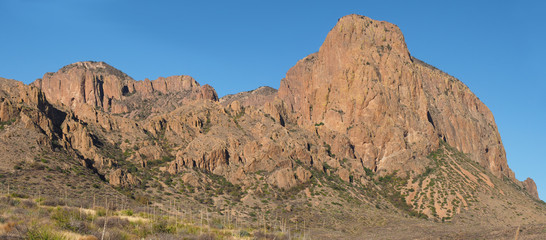 Panorama of the Volcanic Mountains in Big Bend National Park