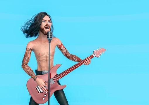rock star lead singer cartoon