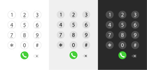Dialing a number. Keyboard dialing. Interface.