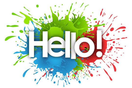 hello word and splashs