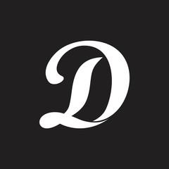 Obraz simple linked curves letter ld logo vector - fototapety do salonu
