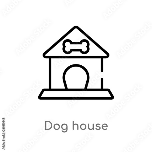 fe870ddbf044 ... dog house vector icon. isolated black simple line element illustration  from animals concept. editable vector stroke dog house icon on white  background