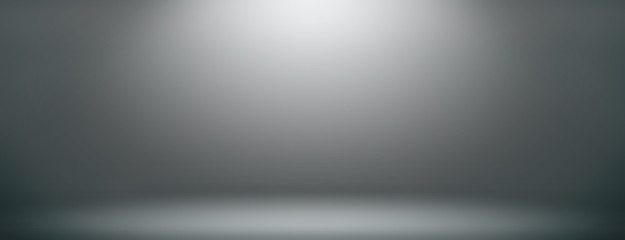 Space studio backdrop abstract gradient grey background. empty room studio gradient used us montage or display your products design Wall mural