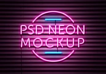 Neon Effect Mockup
