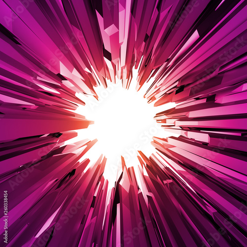 3d pink crystals background, crystallized object, abstract