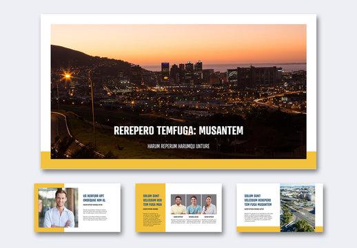 White and Yellow Web Presentation
