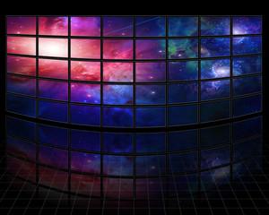 Fototapete - Galaxies and stars on screens