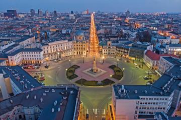 Łódź, Poland -view of Freedom Square.