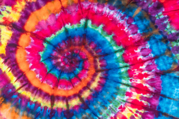 Bright Colorful Abstract Psychedelic Tie Dye Swirl Design Pattern.