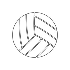 volleyball icon. Element of Sport for mobile concept and web apps icon. Outline, thin line icon for website design and development, app development