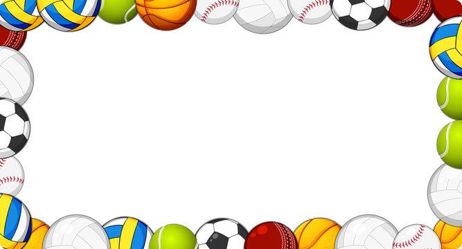 A sport ball frame