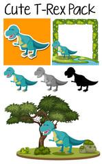 A pack of tyrannosaurus