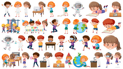 Set of learning kids
