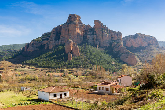 spectacular rocks in the Spanish mountains