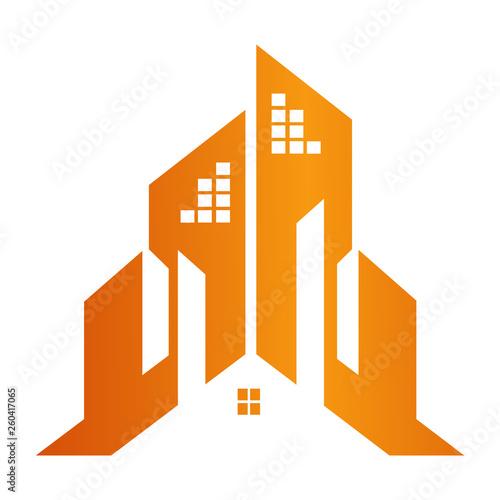 Building town construction concept design  Symbol graphic
