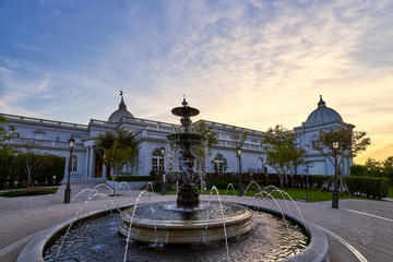 Tainan, Taiwan - December 4, 2018: Beautiful scenic of Chimei museum which displays of Western art, antiquities and notable stringed-instrument collection in Tainan, Taiwan