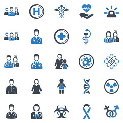Healthcare & Medical Icon Set - 3 (Blue Series)