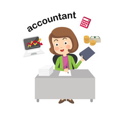 Profession accountant.vector illustration.