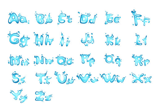 Alphabet water letter A - Z Vector