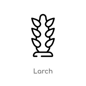 outline larch vector icon. isolated black simple line element illustration from nature concept. editable vector stroke larch icon on white background