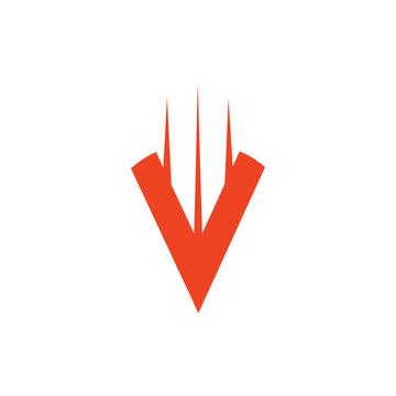 swoosh arrow up simple logo vector