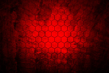 dark red hexagon background and real texture
