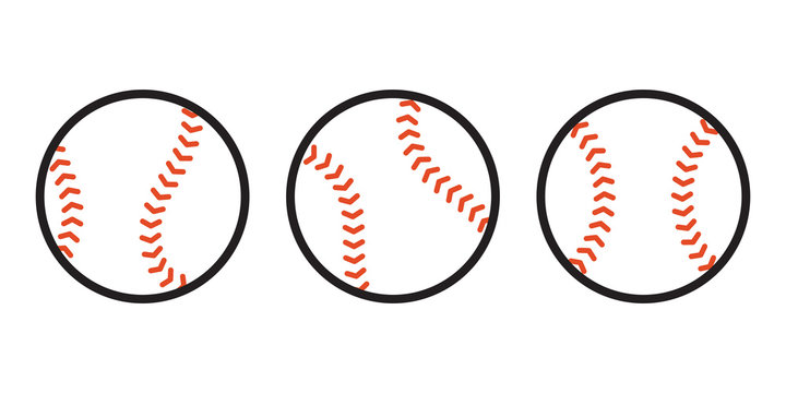 Baseball Ball icon Vector sport symbol illustration cartoon
