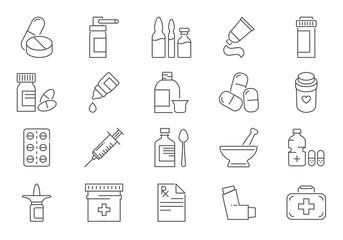 Drugs Icon Set.