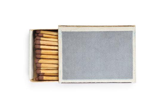 One matchbox isolated