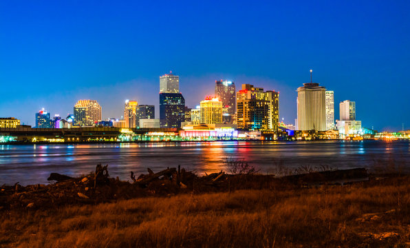 Night view of downtown New Orleans, Louisiana