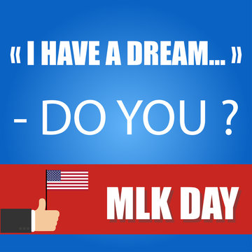 martin luther king junior day greeting card