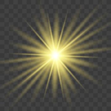Star explodes on transparent background.