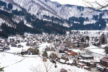 Wall Mural - Winter snow of Shirakawago in Gifu, Japan