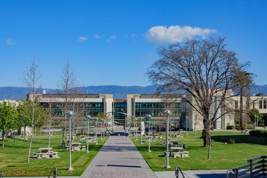 Walking in the Loma Linda University