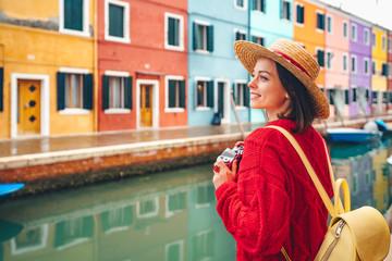 Beautiful girl in Italy Wall mural