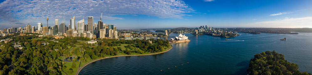 Unique panoramic view of the beautiful city of Sydney, Australia