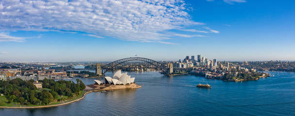 Deurstickers Sydney Wide panoramic view of the beautiful city of Sydney, Australia