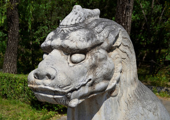 Statue of Qilin on the Sacred Way to the Ming Tombs, Beijing, China