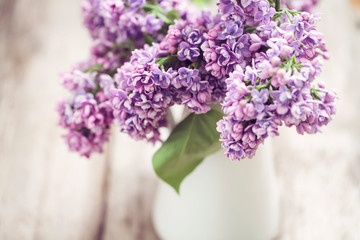 Garden Poster Lilac Lilac flowers in white vase
