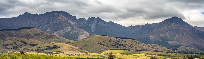 mountain view in New Zealand