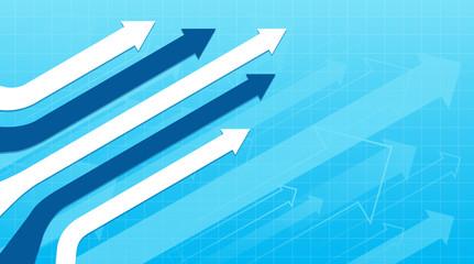 Fototapeta Financial Arrow Graphs concept obraz