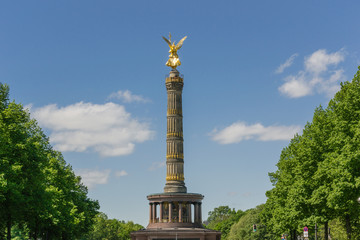 Monument in the center of the Berlin park: Victory Column - Germany